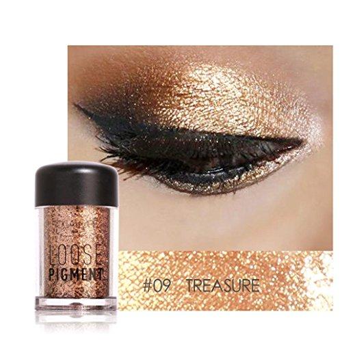 Sparkly Lidschatten SOMESUN Augen Makeup Perle Metallic Lidschatten-Palette (#9)