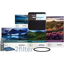 Lee filtros 67mm edición especial paisaje Kit 1–FK soporte, 67mm anillo adaptador de gran angular, borde suave Set, Big Stopper, nueva Lee 105mm Slim Filtro Polarizador Circular de paisaje y frontal Accesorio Anillo, con 2filtro Kit de limpieza