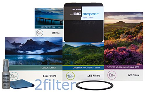 Lee Filter 67 mm Special Edition Landschaft Kit 1 - FK Halter, 67 mm Weitwinkel Adapter Ring, Soft Edge Set, Big Stopper, neue Lee 105 mm Slim Landschaft Polarisationsfilter und vorne Zubehör Ring, mit 2 Filter Reinigung Kit -