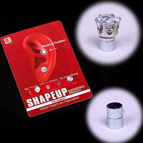 Msmask 1pairs magnetischer dünner Ohr Aufkleber Ohrringe Schlankheits Tragen Abnehmen