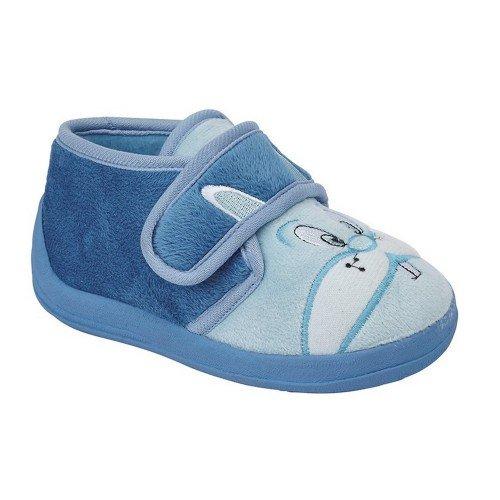 Sleepers - Zapatillas botines modelo Hoppy con cierre de tira adhesiva para niños (25 EU/Azul)