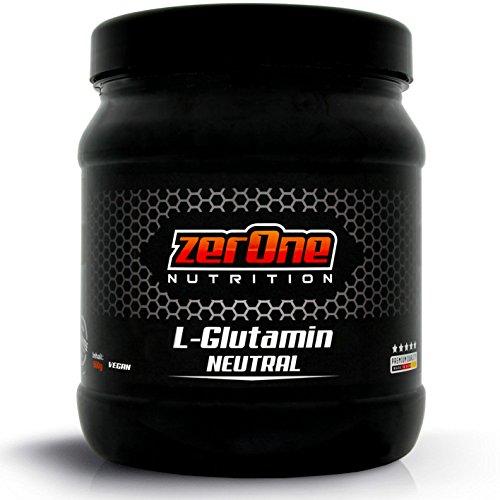Zerone L-Glutamin Pulver | Made in Germany | 100% L-Glutamin Pulver Hochdosiert | Geschmacksneutral | Aminosäure Regeneration Muskelerhalt 500g