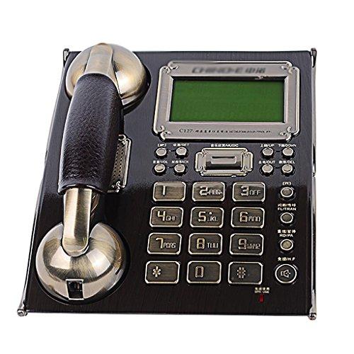 G-Y Telefon, Retro- verdrahtetes Telefon der nordischen Art antikes Hauptkabel festes Festnetzmaschine kreatives Weinlesetelefonschwarzes Telefon