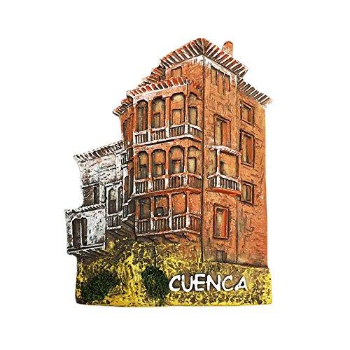 3D Cuenca España Imán de Nevera Casa colgante Estilo Viaje Etiqueta de...
