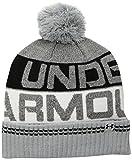 Under Armour Herren Retro Pom Beanie 2.0 Mütze, Overcast Gray/Black, OSFA