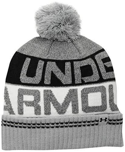 Under Armour Herren Mütze Beanie Retro Pom 2.0 1300078 OVERCAST GRAY/BLACK/BLACK One size