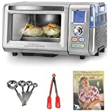 Cuisinart CSO-300 Combo Steam/Convection Oven + Kamenstein Mini Measuring Spoons Spice Set + Nylon Flipper Tongs + Cookbook