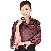 Scialle di seta velluto/Preso bifacciale super lunga sciarpa