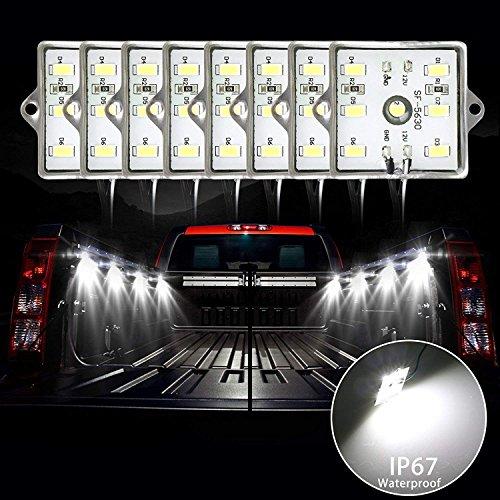 48LEDs Truck Bett Light Kit 24Pods Truck Bett Cargo Lights LED Bettgeländer Light Kit mit On/Off Schalter & Wasserdicht IP67Für Pickup Truck, Wohnmobil-, SUV, Boote, Entladen Cargo area- weiß