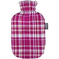 Preisvergleich für Fashy Wärmflasche mit Baumwollbezug im Karodesign, Farbe: burgund