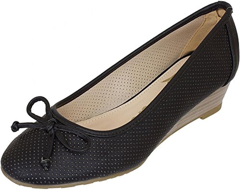 Refresh Shoes - Bailarinas de Piel para mujer Negro negro