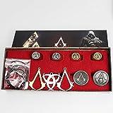Assassins Creed 9 Teile Halsketten Anhänger Set Cosplay Kostüm Zubehör