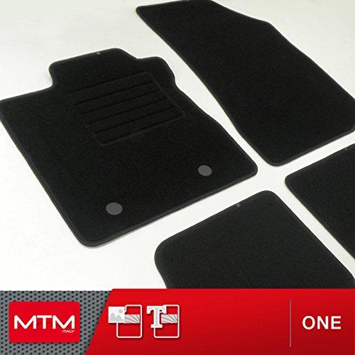 MTM Tapis de Sol Sandero II/Stepway II Depuis 12.2012- sur Mesure en Velours Noir, cod. One fr955