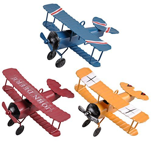 ezakka-vintage-metal-planes-model-retro-iron-aircraft-biplane-pendant-model-tin-toys-home-decoration