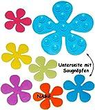 """Set - Badewanneneinlage / Sticker mit Noppen - """" bunte Blumen """" - Anti Rutsch Pad - Aufkleber aus Silikon - Einlage z.B. für Dusche / Badewanne - rutschfest Saugnäpfe - Badezimmer Bad - Sicherheit - Antirutschmatte - für Kinder & Erwachsene - kein Ausrutschen - Badewannenmatte - Wanneneinlage - antirutsch / kein Ausrutschen - Duschmatte / Badematte"""