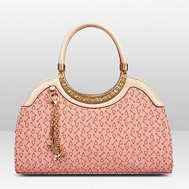 La donna pu Hobo Borsa a tracolla / Tote / Frizione - bianco / rosa / blu / marrone,Arrossendo rosa Blue