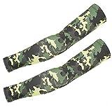 1 Paar Arm Sleeves Camouflage Military Ice Silk Manschette Arm-Wärmer Uv-Sonnenschutz Anti-Rutsch Ärmlinge Kompression Bandage rutschfest Running Radsport-Dschungel-Taktik