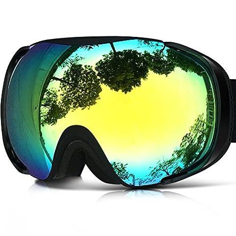 ZIONOR Lagopus X8 Snowboard Ski Goggles with Dual-layer Lens Anti-fog