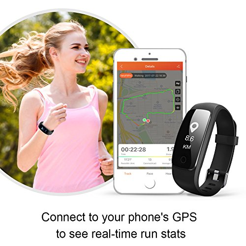 Fitness Tracker Heart Rate Monitor Watch, Letscom IP67 Waterproof Activity Tracker with Calorie Counter Pedometer Watch for Kids Women Men
