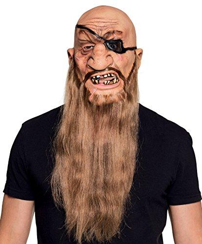 Boland maschera pirata horror in lattice con barba per adulti, rosa, taglia unica 97564