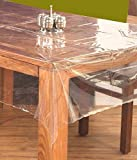 #3: Kuber Industries™ .20 mm PVC Transparent Clear Center Table Cover Tablecloth Waterproof Protector, 4 seater, 40*60 Inches Rectangle(without laced edges) DTC11
