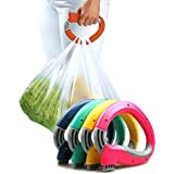 Trip Grip Handle Carry Multiple Bags Without Hand Strain Locking Holder Handle Grocery Carrier Holder Carry Multiple Plastic Bags Lock (Multicolor)