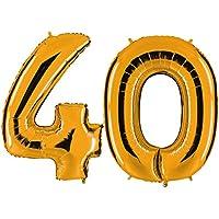 Globo de oro 40 - XXL gigante de 100 cm para 40 -. Fiesta de