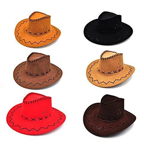 LUOEM Child Cowboy Hat for Birthday Festival Party Favor 6pcs