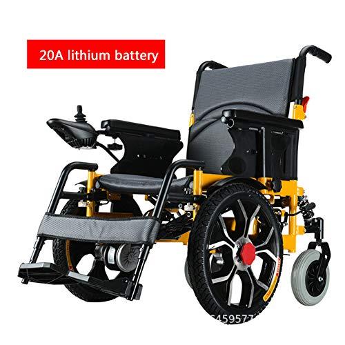 LFF WHEELCHAIR Elektrorollstuhl, Elektrischer Faltrollstuhl, Doppelbatterie, Klapprollstuhl Elektrischer Rollstuhl Für ältere Und Behinderte Menschen,20a