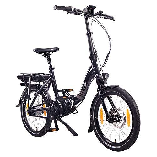 """NCM Paris MAX N8R / N8C E-Bike, E-Faltrad, 250W, 36V 14Ah 504Wh Akku, 20"""" Zoll (Schwarz mit Rücktrittbremse (N8C))"""