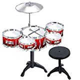 #10: Halo Nation Jazz Drum Set Musical Instrument 10 pcs Set - 5 Tom Tom Drum - Big Size 57 cm Height - Top Quality