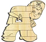 Farbklecks Collection Holzbuchstabe Pirat A - 10cm Höhe - Buchstabentiere - Holzbuchstaben - Holz-Buchstabe