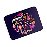 PosterGuy A4 Mouse Pad - Music Flat Abst...