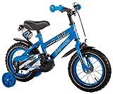 Kinderfahrrad Jungenfahrrad 12 Zoll Super mit Stützräder Blau - 95% zusammengebaut