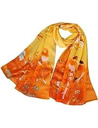 0f21d6b0d LMLAVEN Chiffon Flower Scarf Women's Floral Scarves Printe Chiffon Scarf  Polka Dot Shawls Long Scarf Wrap
