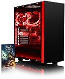 VIBOX Voxel RSR780-163 Gaming PC - 3,7GHz AMD Ryzen 8-Core CPU, RX 480 GPU, leistungsfähig, Wassergekühlter Desktop Gamer Computer mit Spielgutschein, Rot Innenbeleuchtung, lebenslange Garantie* (3,0GHz (3,7GHz Turbo) AMD Ryzen 7-1700 Octa 8-Core Prozessor CPU, AMD Radeon RX 480 4GB Grafikkarte, 32GB Crucial Ballistix 2400MHz RAM, 240GB SSD, 1TB HDD Festplatte, Alphacool Eisbaer Wasserkühler, 600W 85+ Netzteil, NZXT Gehäuse, AM4 X370 Mainboard, Ohne Windows Betriebssystem)
