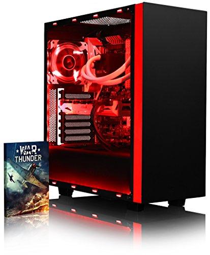 VIBOX Voxel GSR770-133 Gaming PC Computer mit Spiel Bundle (3,7GHz AMD Ryzen 8-Core Prozessor, ASUS Nvidia GeForce GTX 1070 Grafikkarte, 8Go DDR4 RAM, 120GB SSD, 2TB HDD, Ohne Betriebssystem)