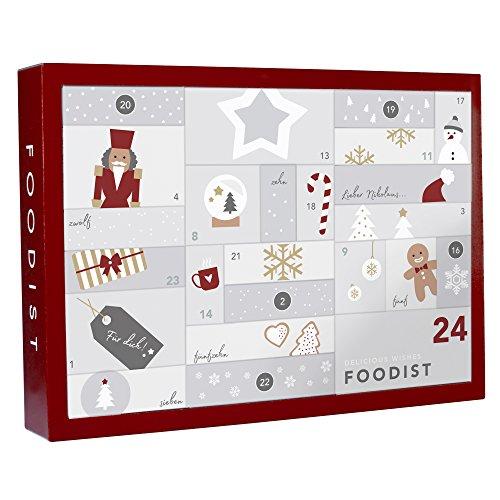 Image of Foodist Gourmet Adventskalender mit 24 hochwertigen Süßigkeiten, Snacks und Delikatessen von unabhängigen Manufakturen aus ganz Europa