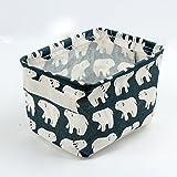 Leisial Aufbewahrungsbox für Baumwolle und Wäsche, Aufbewahrungstasche aus wasserdichtem Material, Griffe beidseitig für Kleidung von Kindern mit niedrigem Alter oder Haustier-Zubehör, style D, 20.5x16.5x13.5cm - 9