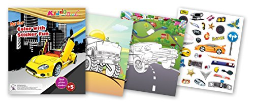 (QuackDuck Malbuch My Car - Color with glitter stickers - Mein Auto - Malen und Schneiden mit Glitter Sticker Aufkleber - Malblock für Kinder ab 5 Jahre - mit buntem Sammelumschlag)