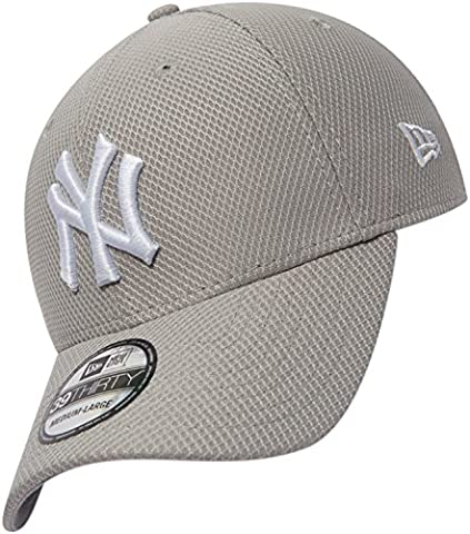 New Era Herren Caps / Flexfitted Cap Diamond Essential NY Yankees grau L/XL