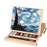 Dream-cool Caballete de Madera Ajustable para Escritorio con cajón y cajón, portátil, Pintura de Escritorio, Suministros de Arte de Madera Color