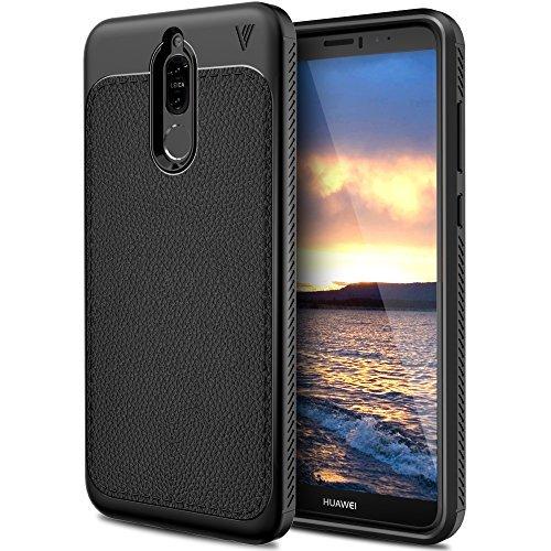 Huawei Mate 10 Lite Hülle, KuGi Slim Weiches Stoßsicheres Gehäuse mit Spezial-Hexagon Texture Hülle Schutzhülle Soft Case Hülle für Huawei Mate 10 Lite Smartphone (Schwarz)