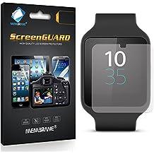 3 x Membrane Protector de Pantalla para Sony Smartwatch 3 (SWR50) - Transparente, Embalaje y accesorios