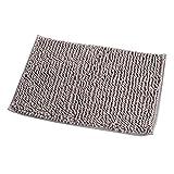 weiche Boden Matte Shaggy Teppich Eingang Chenille Badezimmer Wasser Stoßdämpfender Teppich, grau, 40 x 60c