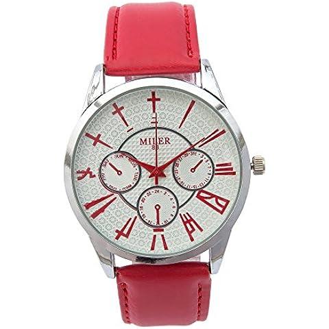 Moda cinese quadrante orologio al quarzo per il tempo libero , red