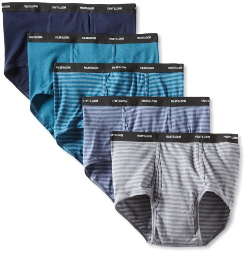 Fruit of the Loom Herren Slip Big Stripe Solid 5er Pack - Mehrfarbig - XX-Large (Fruits Of The Loom Slip)