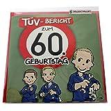 2 x Musikkarte ''TÜV-Bericht zum 60. Geburtstag'' | Klappkarte | Preis am Stiel