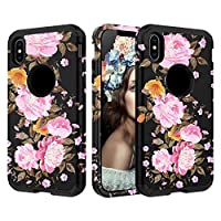 For iPhone XS Max 6.5inch Marbling Armor Case Hybrid 3 Layers Rubber Cover