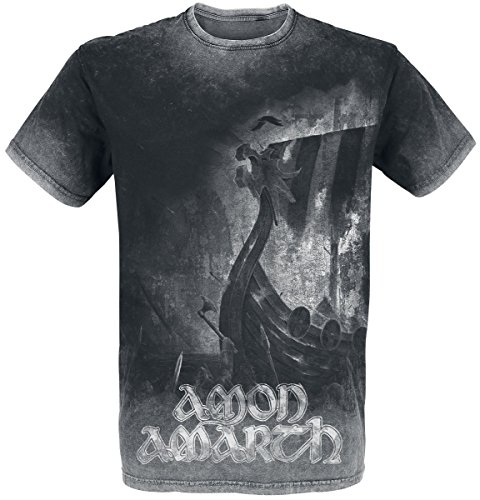Amon Amarth One Thousand Burning Arrows T-Shirt Charcoal L (Shirt Herren Arrow)